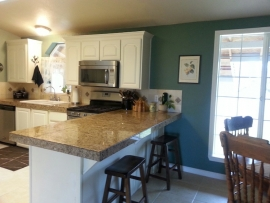 Side view of a remodeled kitchen by Ackerman Construction