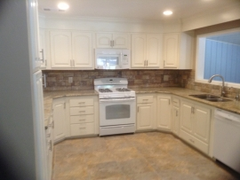 Interior of a kitchen build by Ackerman Construction