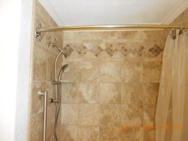 Interior of a shower remodeled by Ackerman Construction
