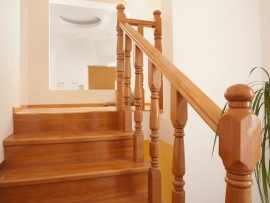 A stairway constructed by Ackerman Construction