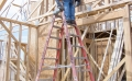LeBlanc Construction photo of man on ladder and working on house construction in Phoenix AZ in August 2012